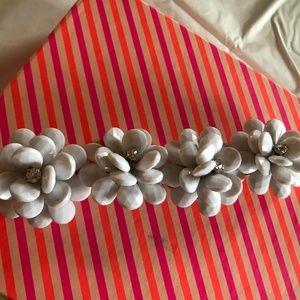 J.Crew Flower Bracelet - White